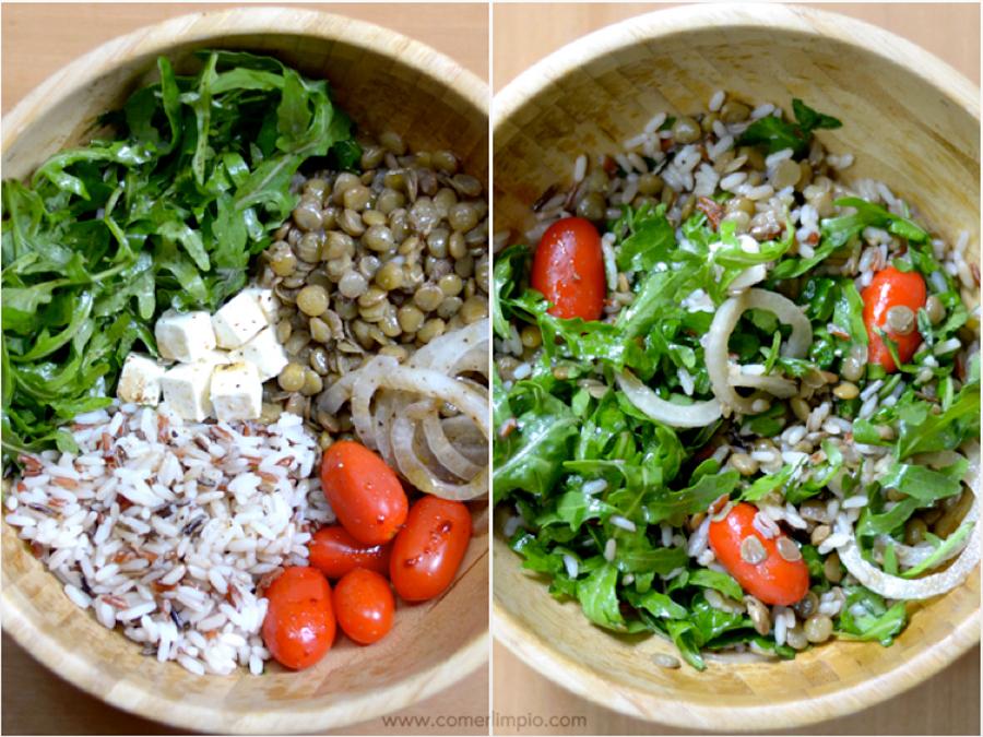 Combinar legumbres con cereales