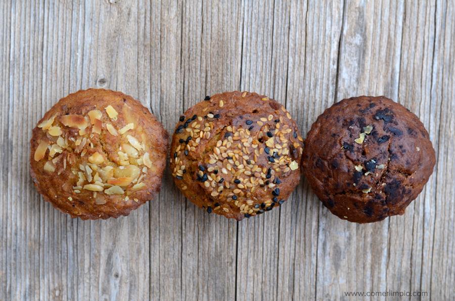 Muffins sin azúcar de trigo sarraceno